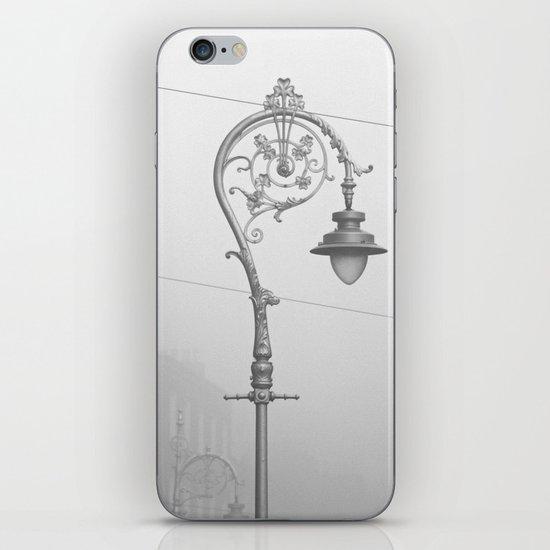 Dublin street lamp in the fog iPhone & iPod Skin