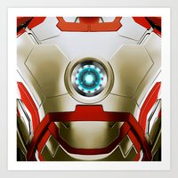 iron man Art Prints featuring IRON MAN Iron Man by Veylow