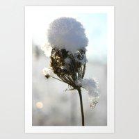 Snow Tops Art Print
