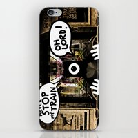 ALONE ON A NIGHT TRAIN iPhone & iPod Skin