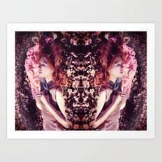 Ginger sleeping beauty  Art Print