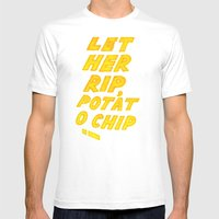 Let Her Rip, Potato Chip Mens Fitted Tee White SMALL
