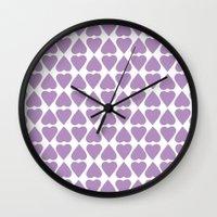 Diamond Hearts Repeat O Wall Clock
