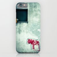 Big 'S' with window, pipe and red spray iPhone 6 Slim Case