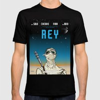 Rey Mens Fitted Tee Black SMALL