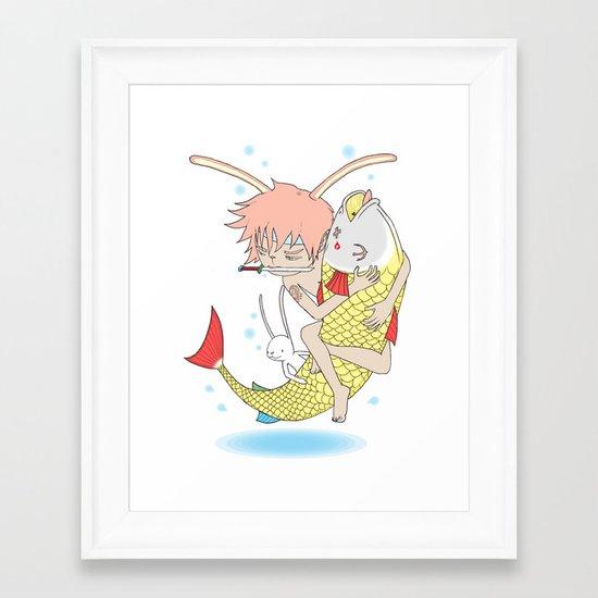 安寧 HELLO - FISHING EP003 Framed Art Print