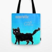 Neurotic Cat Tote Bag