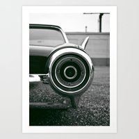 Classic T-bird taillight Art Print