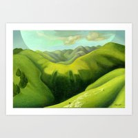 Mustering at the End of the Farm Art Print