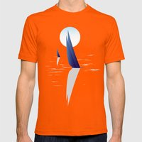 Night Sail Mens Fitted Tee Orange SMALL