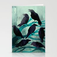 Stationery Cards featuring The Gathering by Littleclyde