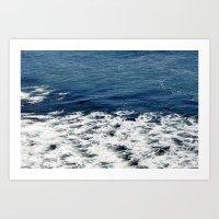 Mystic Blue Sea Art Print