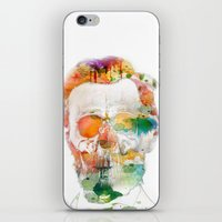 Abraham (Abe) Lincoln Skull Watercolor iPhone & iPod Skin