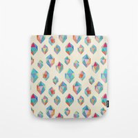 Floating Gems - a pattern of painted polygonal shapes Tote Bag