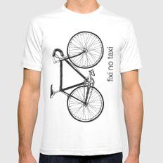 fixi no taxi Mens Fitted Tee SMALL White