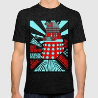 Doctor Who Mens Fitted Tee Tri-Black SMALL