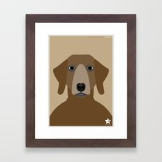 Pointer Framed Art Print
