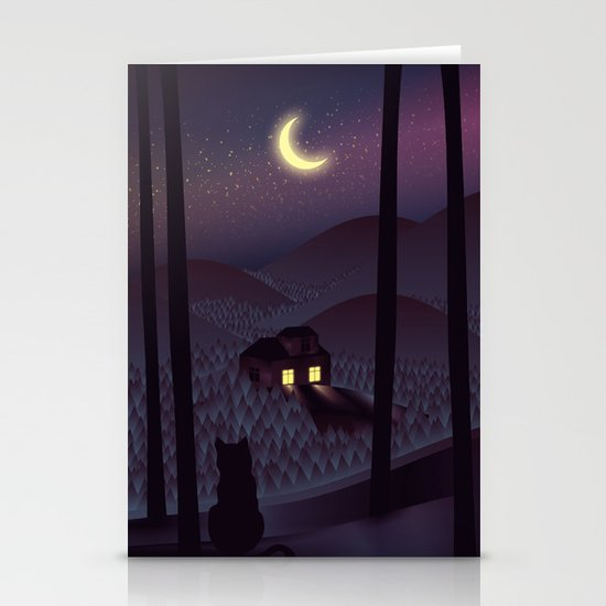 Silent Watcher Stationery Card