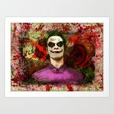 Fassbender as...The Joker! (final) Art Print