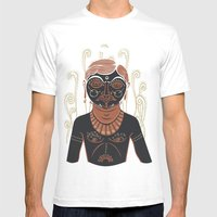 AG - Indian Man DARK Ver… Mens Fitted Tee White SMALL