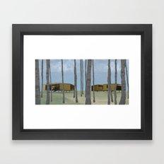 wood pavilion Framed Art Print