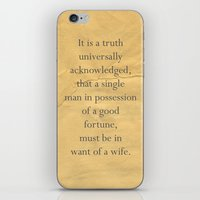 It Is A Truth Universall… iPhone & iPod Skin