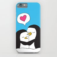 iPhone & iPod Case featuring Penguin Snuggles by Elliott Junkyard