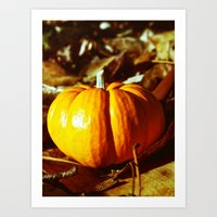 Art Print featuring Aesthetic pumpkin by Vorona Photography