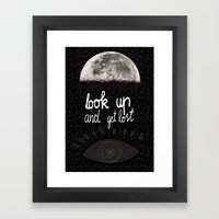 Look up and get lost  Framed Art Print
