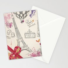 Greetings from Paris Stationery Cards