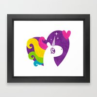 Unicorns Are Real! Framed Art Print