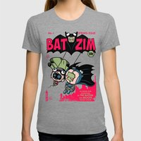 BatZim Womens Fitted Tee Tri-Grey SMALL