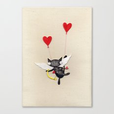 Zombie Kitty Plays Cupid Canvas Print