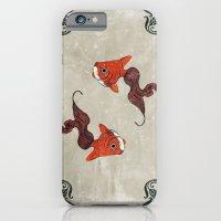Peony gold fish iPhone 6 Slim Case
