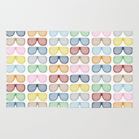 Rainbow Shutter Shades Area & Throw Rug