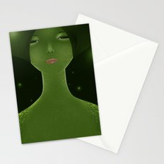 Woman_snake Stationery Cards