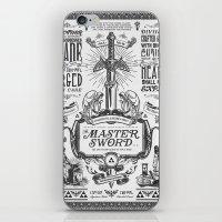 Legend of Zelda Vintage Master Sword Advertisement iPhone & iPod Skin