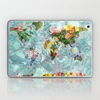 World Map of Flowers Laptop & iPad Skin