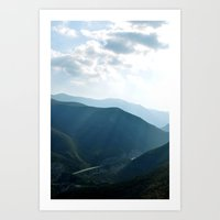 Distant Highway Art Print
