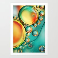 Oil and Water Wave Art Print