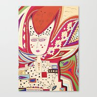 Dame Canvas Print
