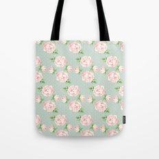 Vintage Roses Pattern Tote Bag