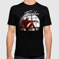 The Flash Dance Mens Fitted Tee Black SMALL