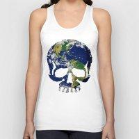 Skull Earth Unisex Tank Top