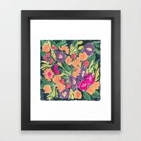 Black Floral Framed Art Print