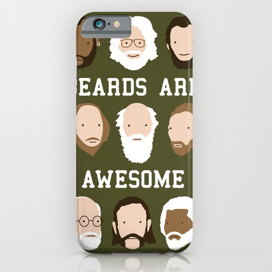 Beards Are Awesome iPhone & iPod Case
