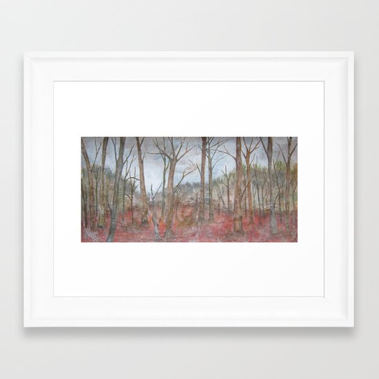 American Winter Forest Framed Art Print