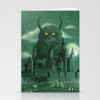 monster Stationery Cards featuring Age of the Giants  by Terry Fan