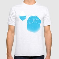 The Tip Of The Iceberg Ash Grey Mens Fitted Tee SMALL