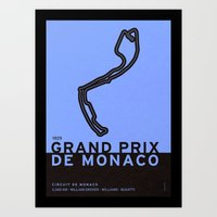 Legendary Races - 1929 Grand Prix de Monaco Art Print